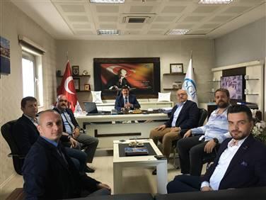 SGK İl Müdürü Necmi Köroğlu'nu ziyaret ettik.